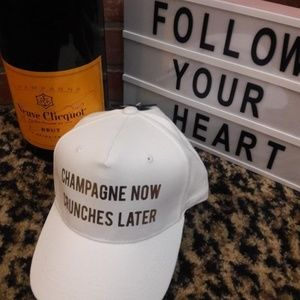Champagne NOW Crunches Later Steve Madden Hat